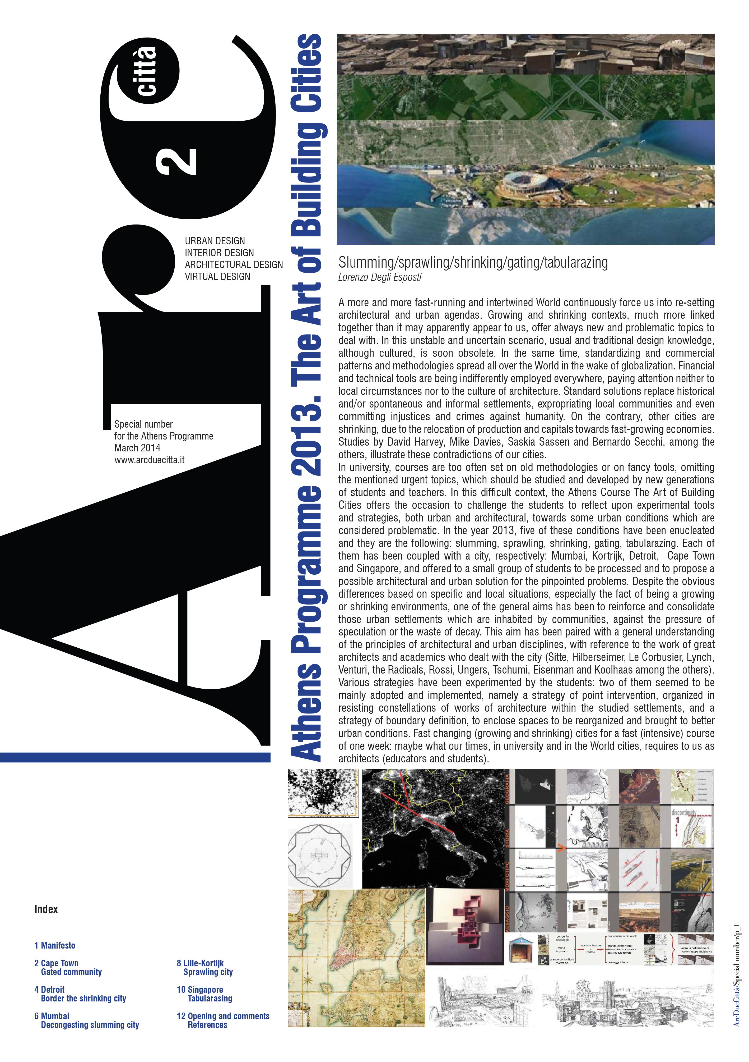 ArcDueCittà Special Issue