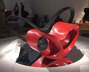 Design Ron Arad, chaise longue Loop Loom, 1992