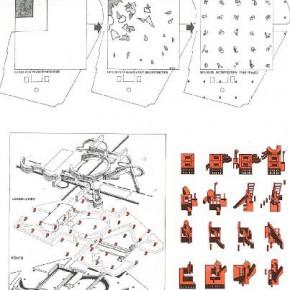 Parc de la Villette - Bernard Tschumi - Un parco pensato come un edificio discontinuo ed un luogo multiprogrammatico - punti + linee + superfici; scomposizione, ricomposizione, griglia compositiva