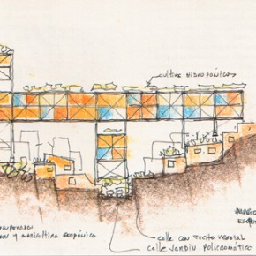 "Fruto Vivas, Barrio ""Los Erasos"", Caracas, 1991, schizzo di studio. (da ""Zodiac"", n°8, settebre-febbraio 1993)"