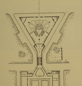 3 - Site plan of Nervi's scheme of the New Norcia Cathedral and Monastery. Courtesy New Norcia Archive