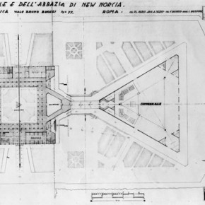 4 - Plan of the building ensemble. Courtesy New Norcia Archive