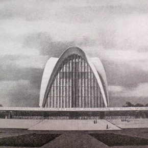 6 - Elevation of Nervi's scheme of the New Norcia Cathedral and Monastery. Courtesy New Norcia Archive