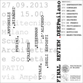 DEEPmilano_workshop di composizione architettonica