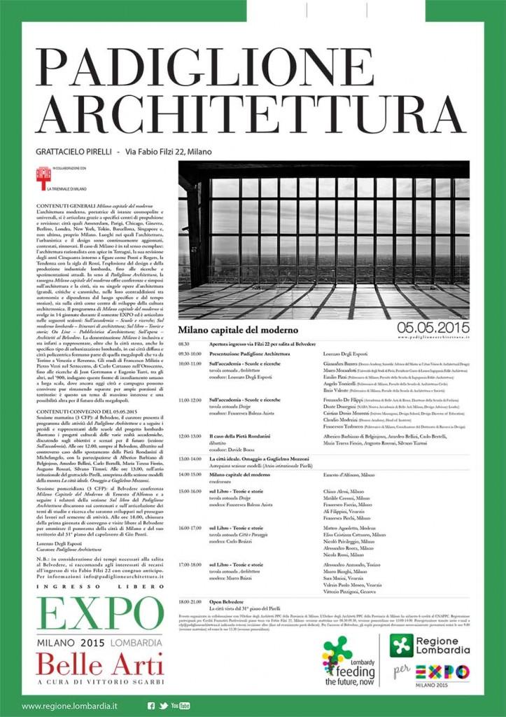 Padiglione architettura expo 2015 belle arti al belvedere for Programma di architettura