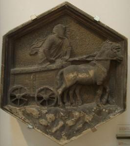 02_Il carro di Tespi - Formella del campanile di Giotto - Nino Pisano