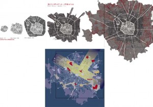 Biografia urbana. Milano dal Medioevo ai giorni nostri . | in basso: Il modello di Milano 2000