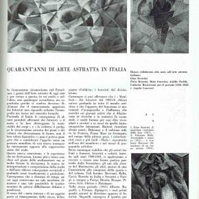 """Studio di """"Spazio"""" n. 4: Quarant'anni di arte astratta in Italia, A. Canevari et al."""