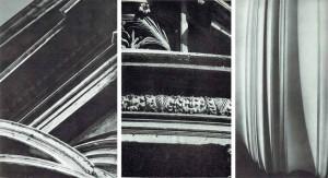 Img. 5: Gianlorenzo Bernini: S.Andrea al Quirinale in Roma (1678). Facciata, particolare.|Francesco Borromini: Oratorio dei Filippini in Roma. Particolare del portale. | Tempio di Athena Nike sull'Acropoli di Atene (450 circa-432). Base di una colonna, modello in gesso