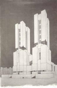 Edificio con due torri II, Mario Chiattone , 1914