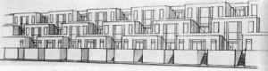 Strandboulevard, seaside housing project, J. J. P. Oud, Scheveningen, 1917