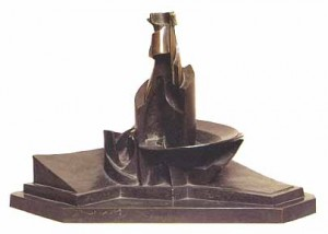 Sviluppo di una bottiglia nello spazio, umberto boccioni, 1913