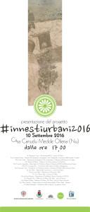 """Il 10 Settembre 2016 alle ore 17,00 presso la Casa Canudu Medde di Oliena (NU) sarà presentato il progetto """"Innesti urbani 2016""""."""