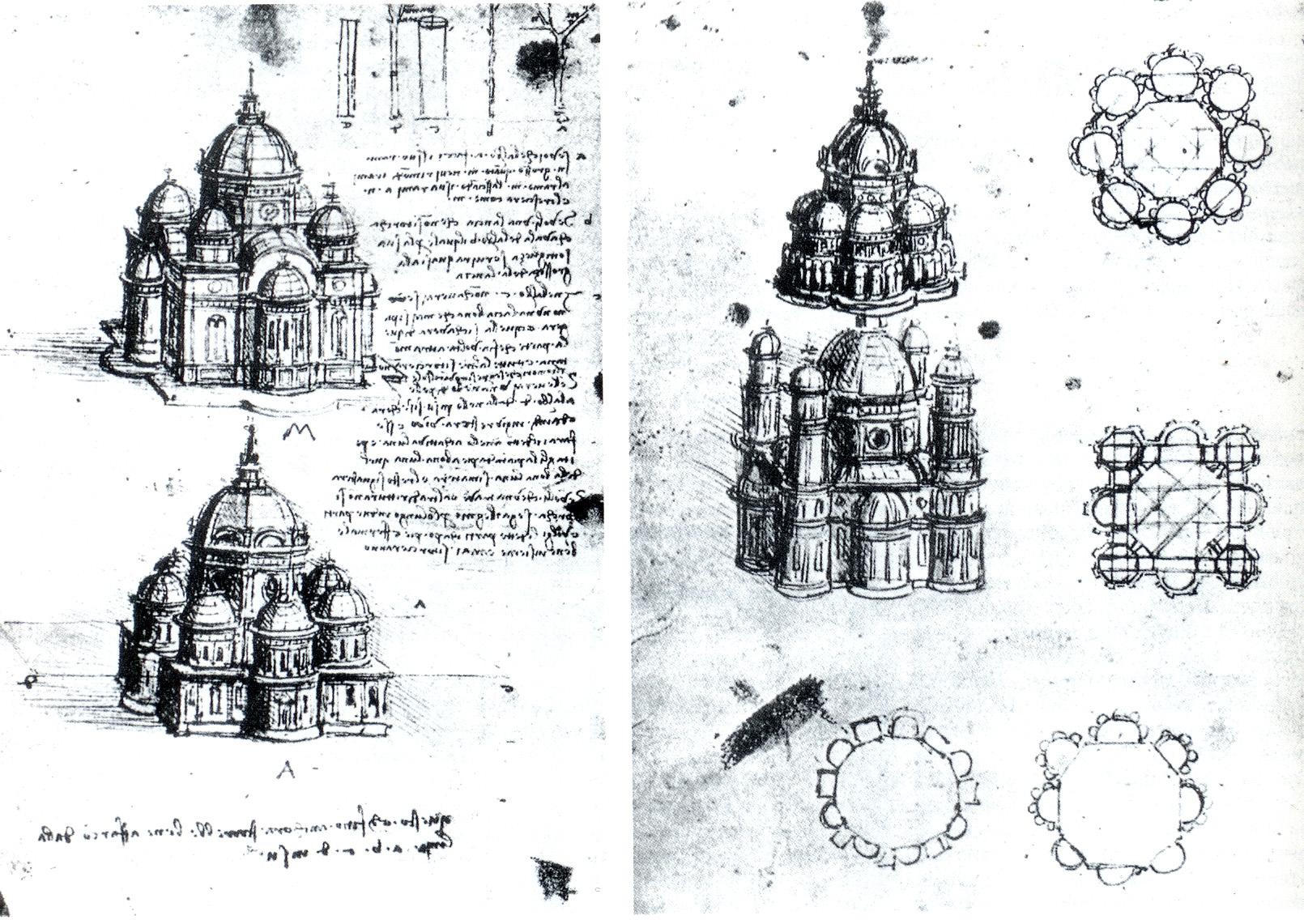 2017.05.19_il disegno a mano libera_Leonardo-disegni-pianta-centrale