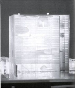 Koolhaas, Biblioteque de France, modello