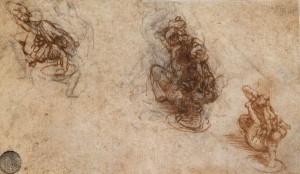 Leonardo schizzo di lotta