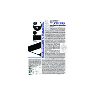 On - line: Arcduecittà n°speciale - Athens Programme 2016. L'arte di costruire la città - visita la sezione 'il numero' e scarica gratuitamente il pdf